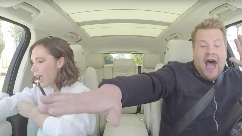 So, Victoria Beckham's Carpool Karaoke Was NOT What We Were Expecting...
