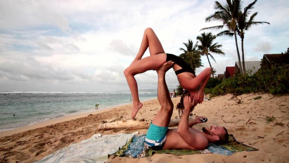 This Yogi's Gravity-Defying Marriage Proposal Is Everything