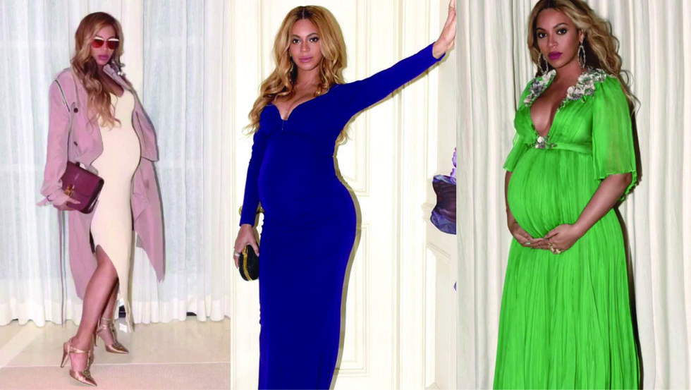 The soon-to-be mum of three stepped up her fashion game during her second pregnancy from Gucci gowns, to custom-made Peter Dundas masterpieces...Beyoncé just raised the steaks really high for all Hollywood stars expecting!