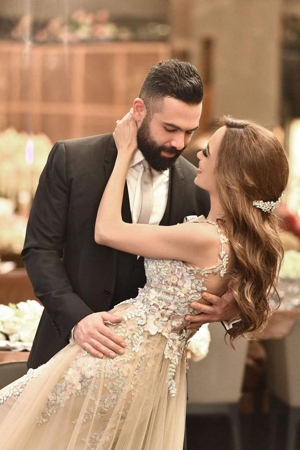 30-year-old Zeynab and her man, marketing manager, Mohamad Kanso celebrated their engagement and Katb el-Kitab in the groom's home country, Lebanon, last month.