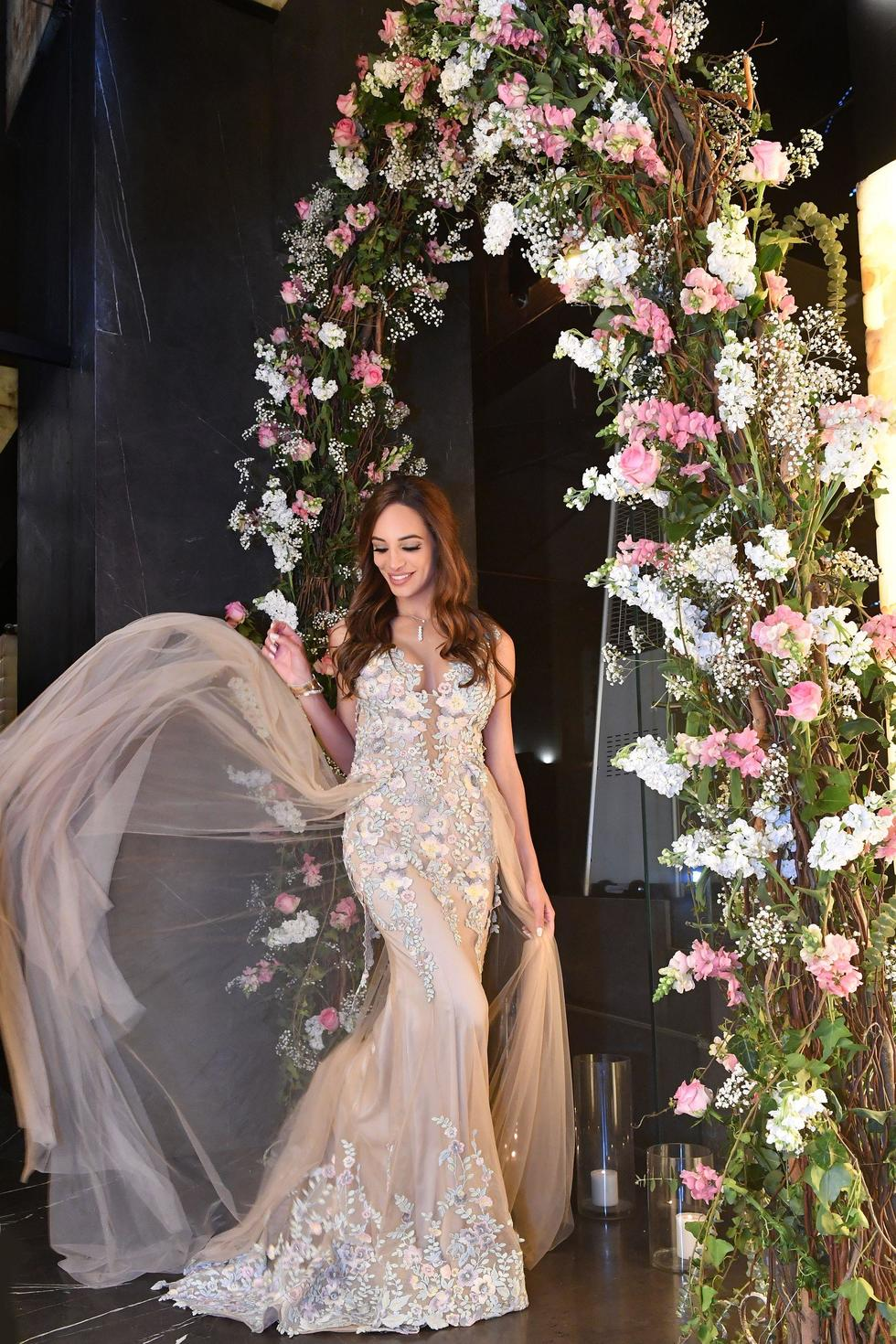 """When we quizzed her about the dress, she spilled, """"I picked [it] up at The Dubai Mall a few days prior to the party and that was chaos!"""""""