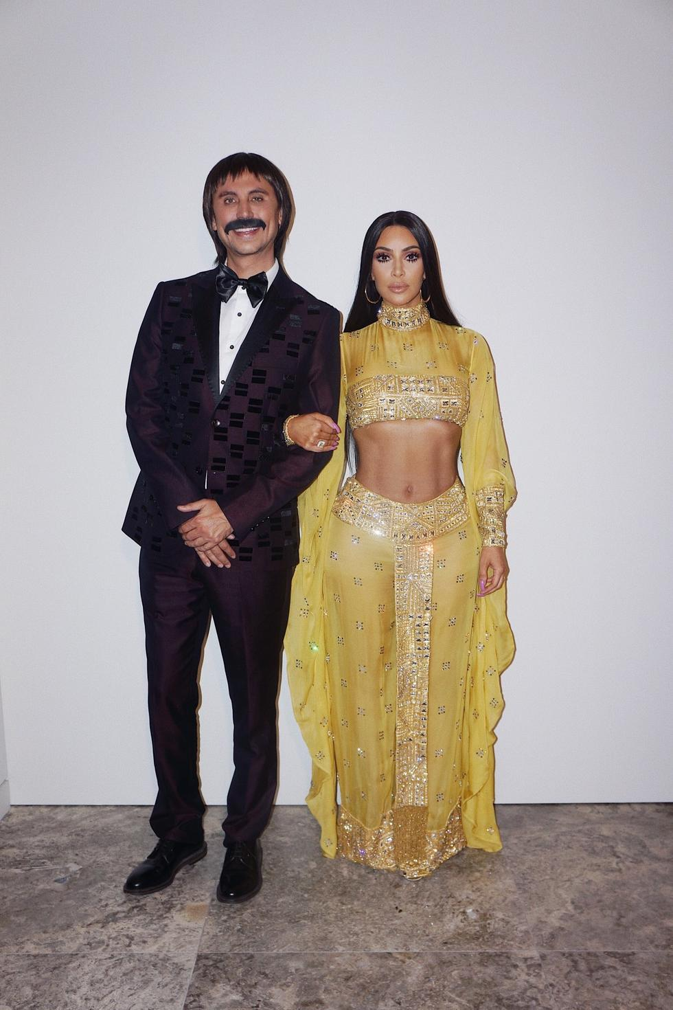 Kim Kardashian was an absolute stunner with her themed costumes recreating the looks of her favourite icons. Kim and her friend Jonathan Cheban rocked it as Sonny and Cher this Halloween...