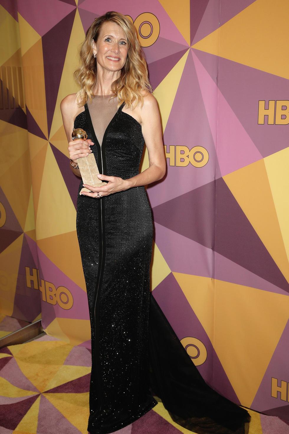Award winner and 'Big Little Lies' star Laura Dern in Giorgio Armani