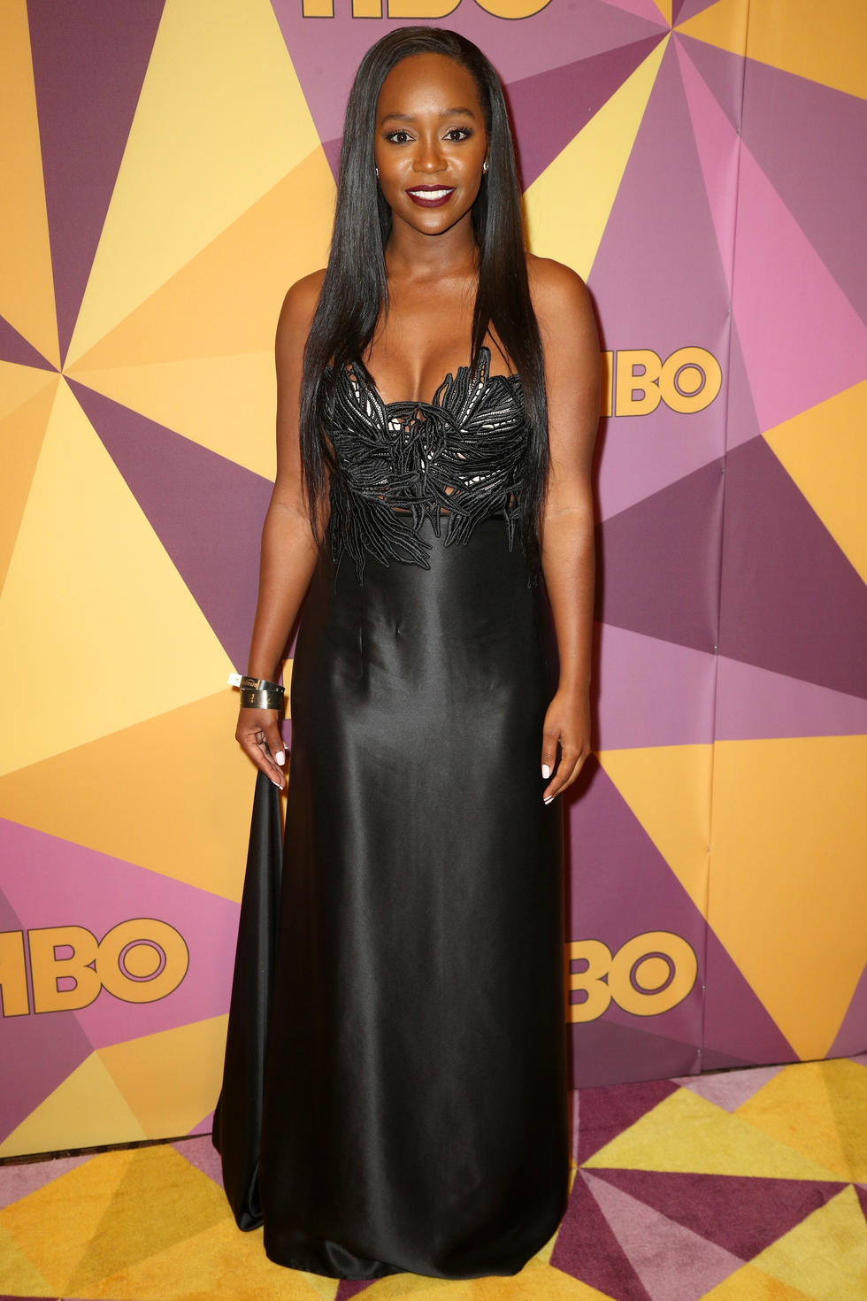 'How to Get Away with Murder' star Aja Naomi King in a gown by Michel Mayer