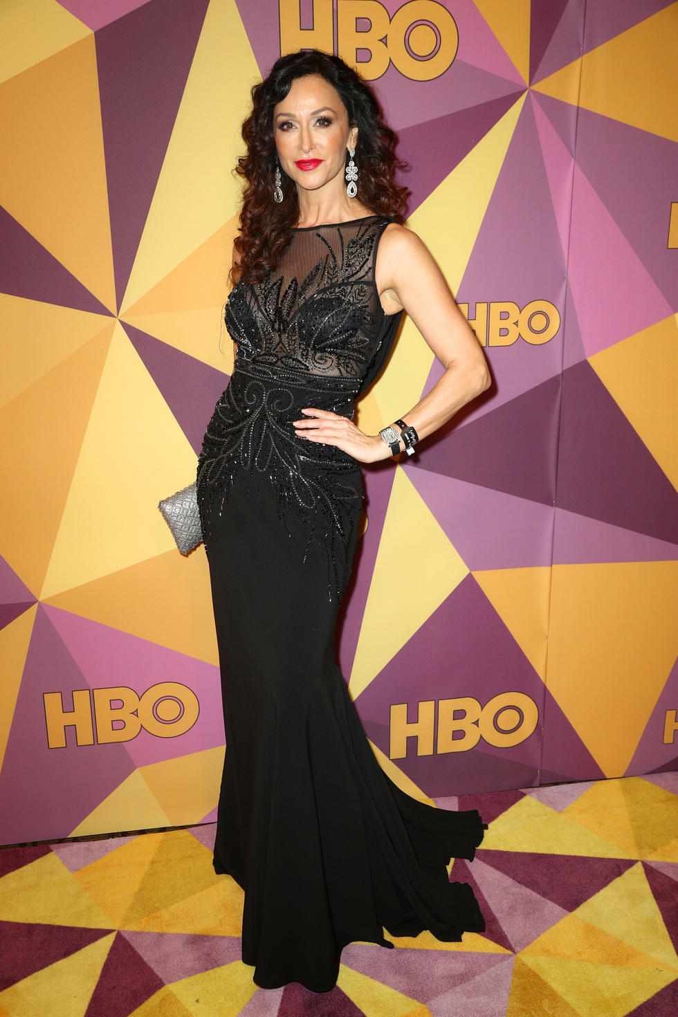 'Criminal Minds: Beyond Borders' star Sofia Milos in Sue Wong