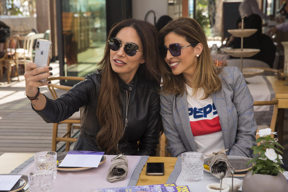 Cosmopolitan Middle East's Publishing Director, Samar Bawab, with Dina Ghorayeb