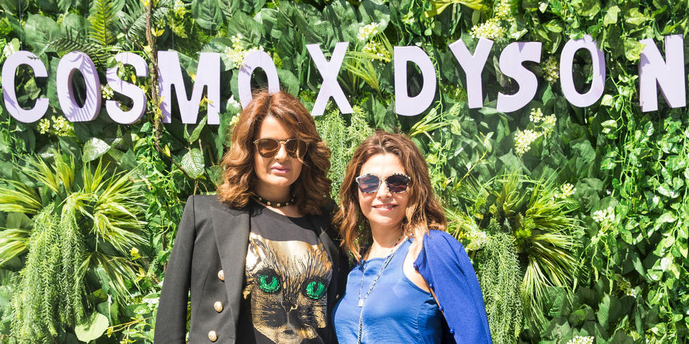 Sarah Abdallah with Myrna Iwaza.  Sarah Abdallah, founder of @dubaiprettyladies,  co-hosted the event. With delicious nibbles at Maison De Juliette and fabulous blowouts from Dyson, it was a morning to remember!
