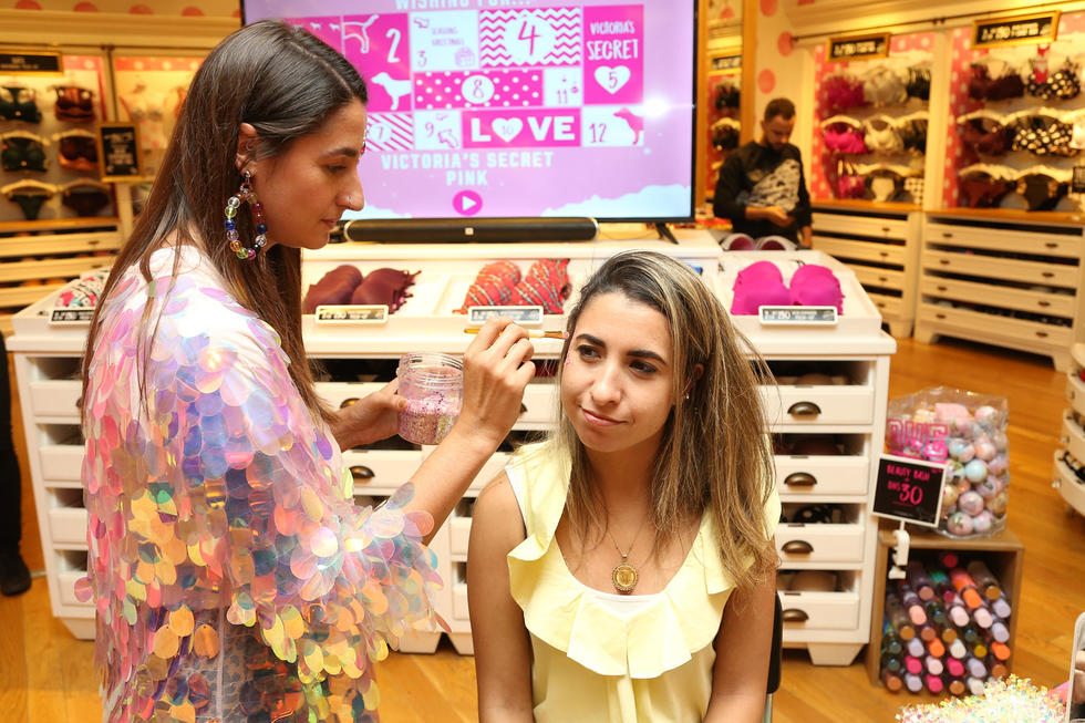 When shoppers spent over Dhs400 at the store, they got the chance to get a custom glitter makeover, courtesy of Glitterbox.