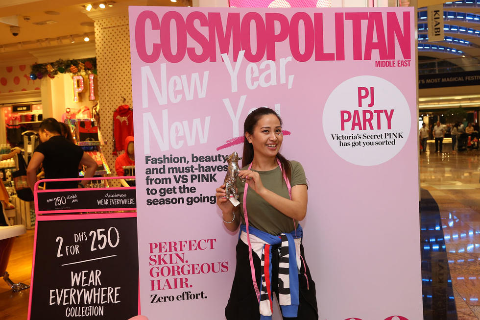 You can't have a Cosmo party without the Cosmo cover board! Here's one of our shoppers being an everyday cover girl!