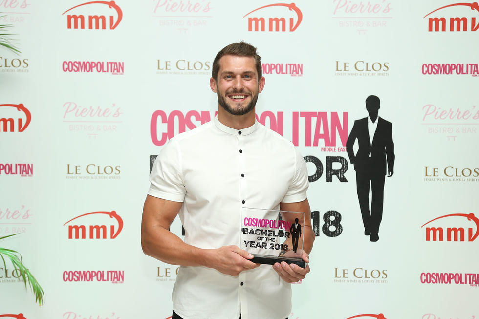 Our winner was none other than the dreamboat, Hendrik Hoogen. This stand up guy stole every woman's heart in the room and we were not complaining. You voted and we listened. Readers, we'd like to introduce you to Cosmo ME's Bachelor of The Year 2018!
