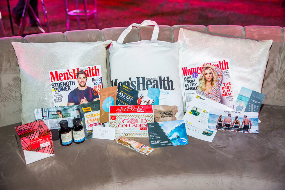 The amazing goodie bag included discount vouchers as well as products from Gold Collagen and many others.