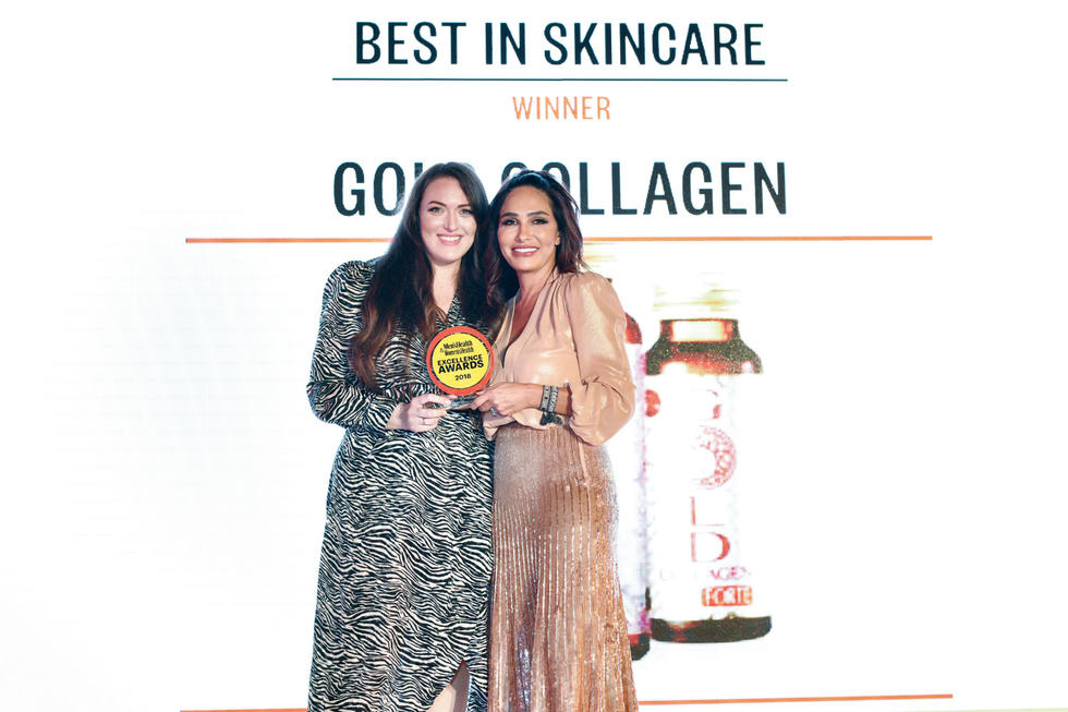 BEST IN SKINCARE: Gold Collagen. The award given by Publishing Director