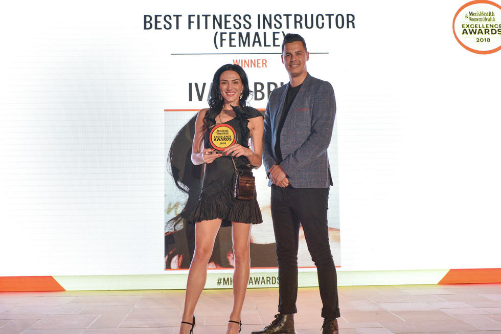 BEST FEMALE FITNESS INSTRUCTOR: Ivana Bruic. The award given by Alfa Romeo Regional Sales Manager, Jo Moursi
