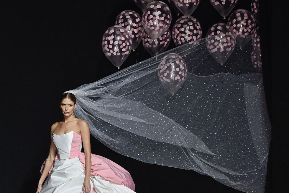 The Most Extra Wedding Dress With Added Helium Balloons Just Took To The Runway