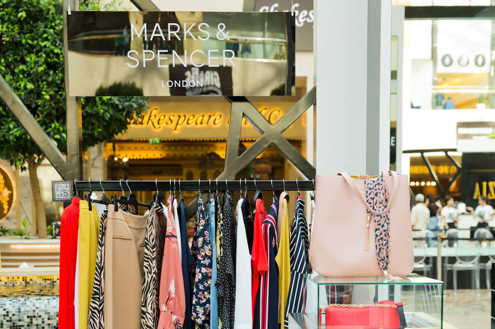 From the shirts and trousers to the purses... we loved them all. Marks and Spencer sure know how to make a statement.