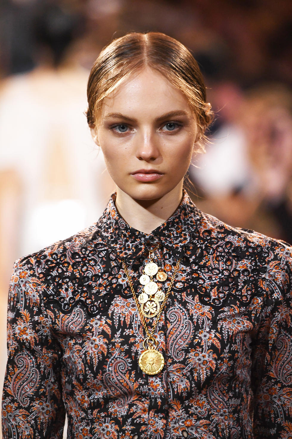 GYPSY COINS -  Layer up multi-chain and multi-coins for that Boho just-returned-from-the-markets-of-Marrakech look (it's a thing, okay?).  Paco Rabanne SS19