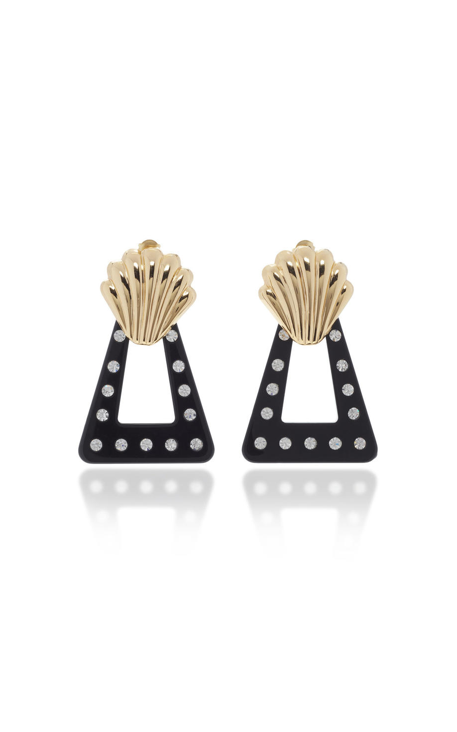 Black resin earrings, Dhs525, Rixo