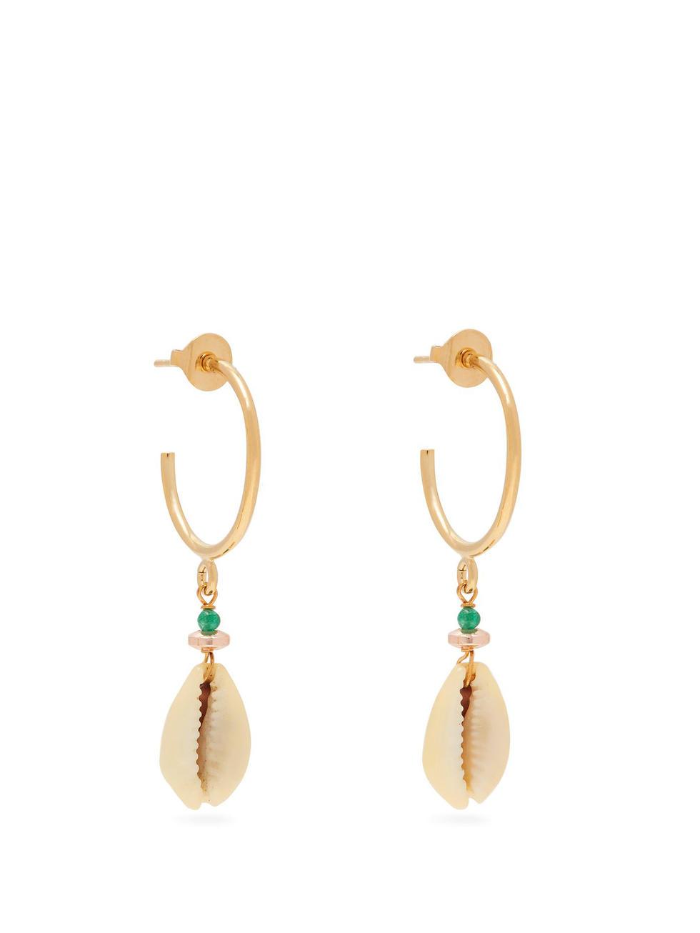 Malebo shell earrings, Dhs312, Isabel Marant