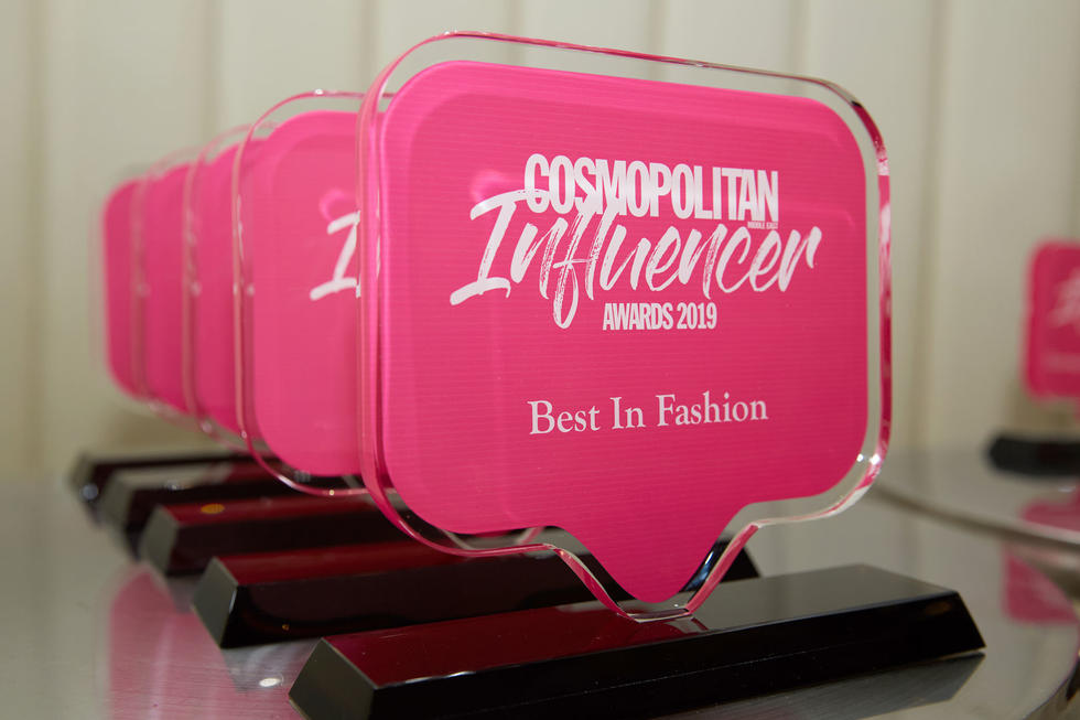 Feast your eyes on our chic Cosmopolitan Influencer Awards trophy