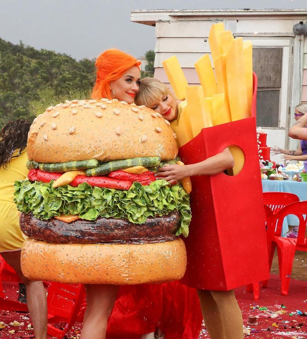 Katy Perry And Taylor Swift Dressed As McDonald's Food And We're Here For It
