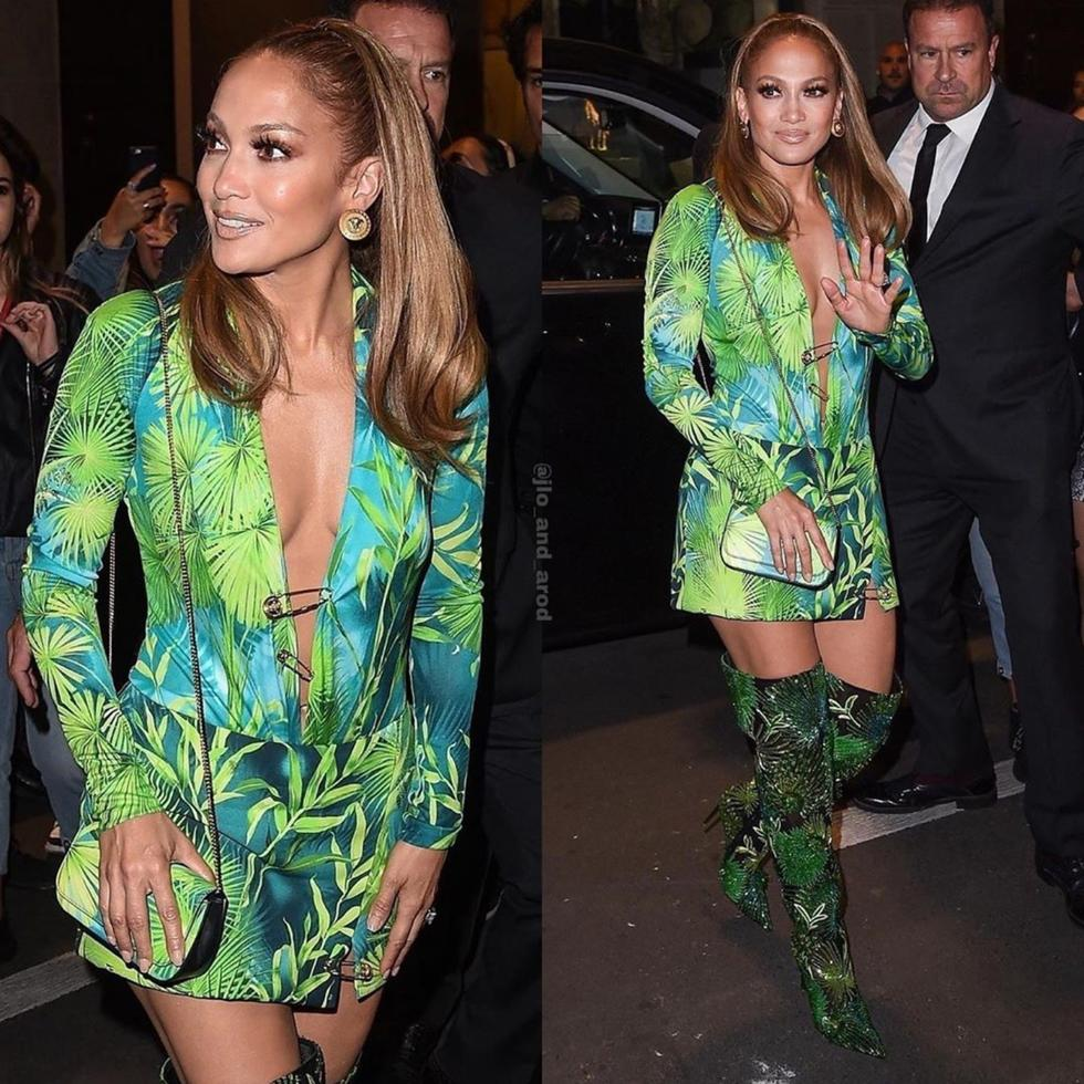 Damn, J. Lo Just Slayed The Versace Runway In A Recreation Of Her Iconic Grammys Gown