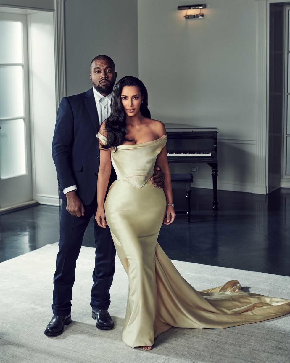 Kim Kardashian Wears Vintage Wedding Dress For Diddy's 50th Birthday Party