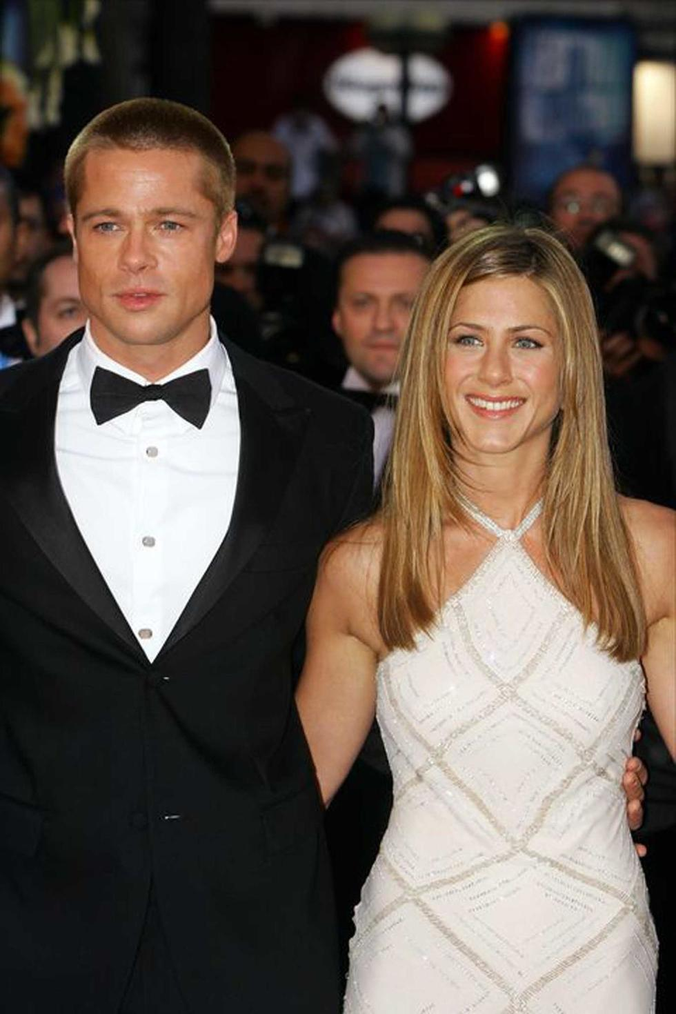 OMG! Brad Pitt Was One of the Last to Leave Jennifer Aniston's Holiday Party