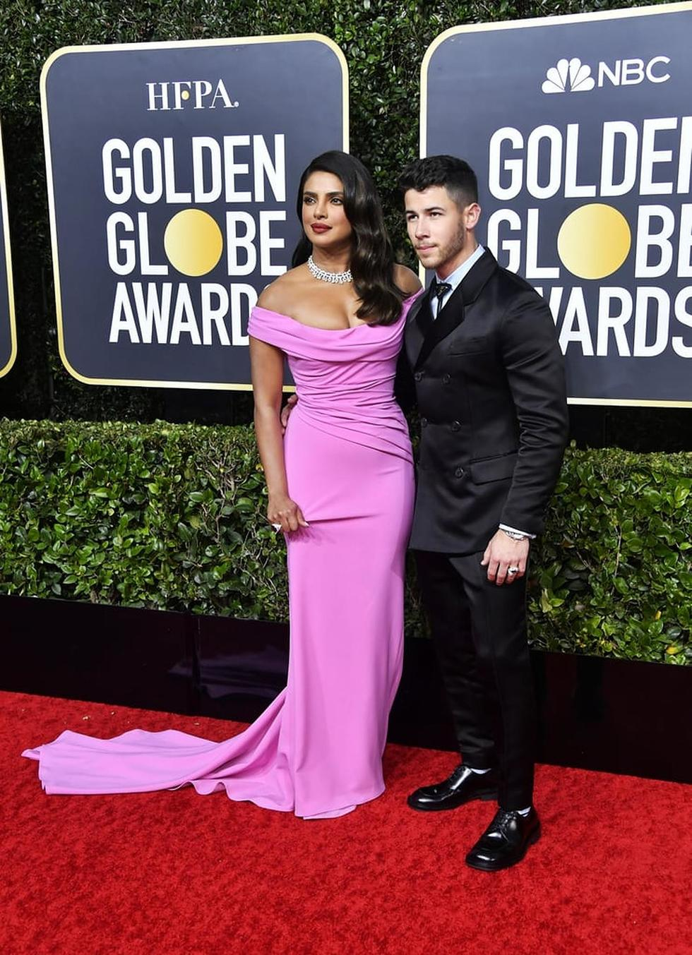 Priyanka Chopra and Nick Jonas Are Impeccably Dressed for the 2020 Golden Globes