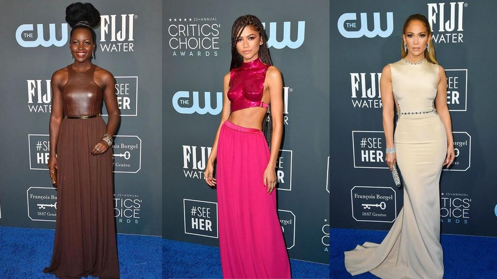 Bold shades, citrus hues and regional designers weren't the only stars of the show - JLo stunned in Lebanese designer Georges Hobeika, Awkwafina was radiant in Elie Saab, and Zendaya's Tom Ford fuschia bodice was ICONIC (to say the least). Swipe right to take a look at our best picks...
