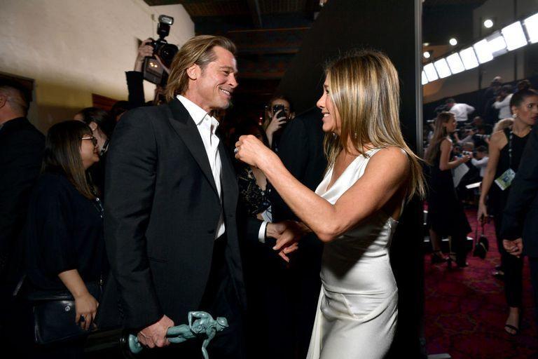Brad Pitt and Jennifer Aniston reunited at the SAG Awards and we need a moment