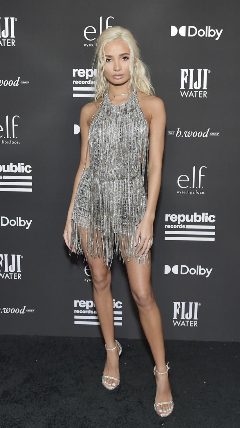 Pia Mia stays put in her Grammys dress from Julian Macdonald