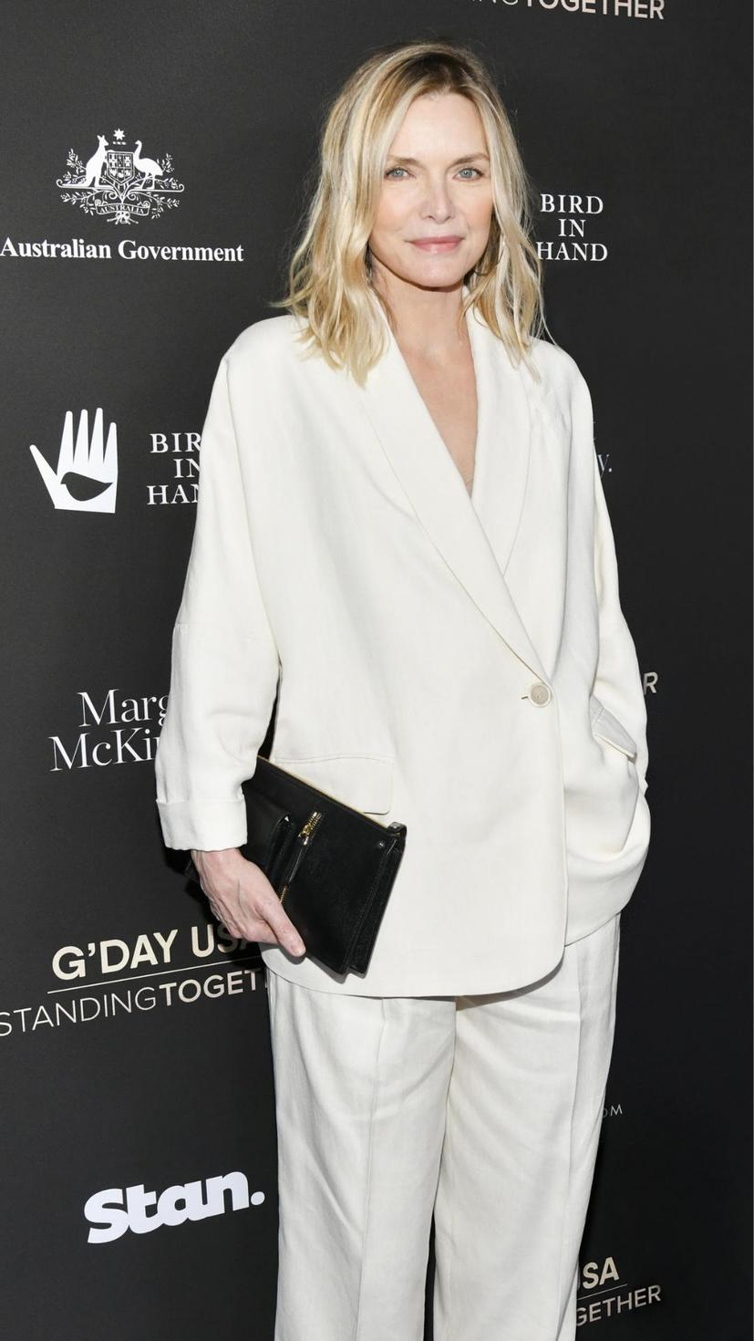 Michelle Pfeiffer wore Brunello Cucinelli S/S20 to G'Day USA 2020