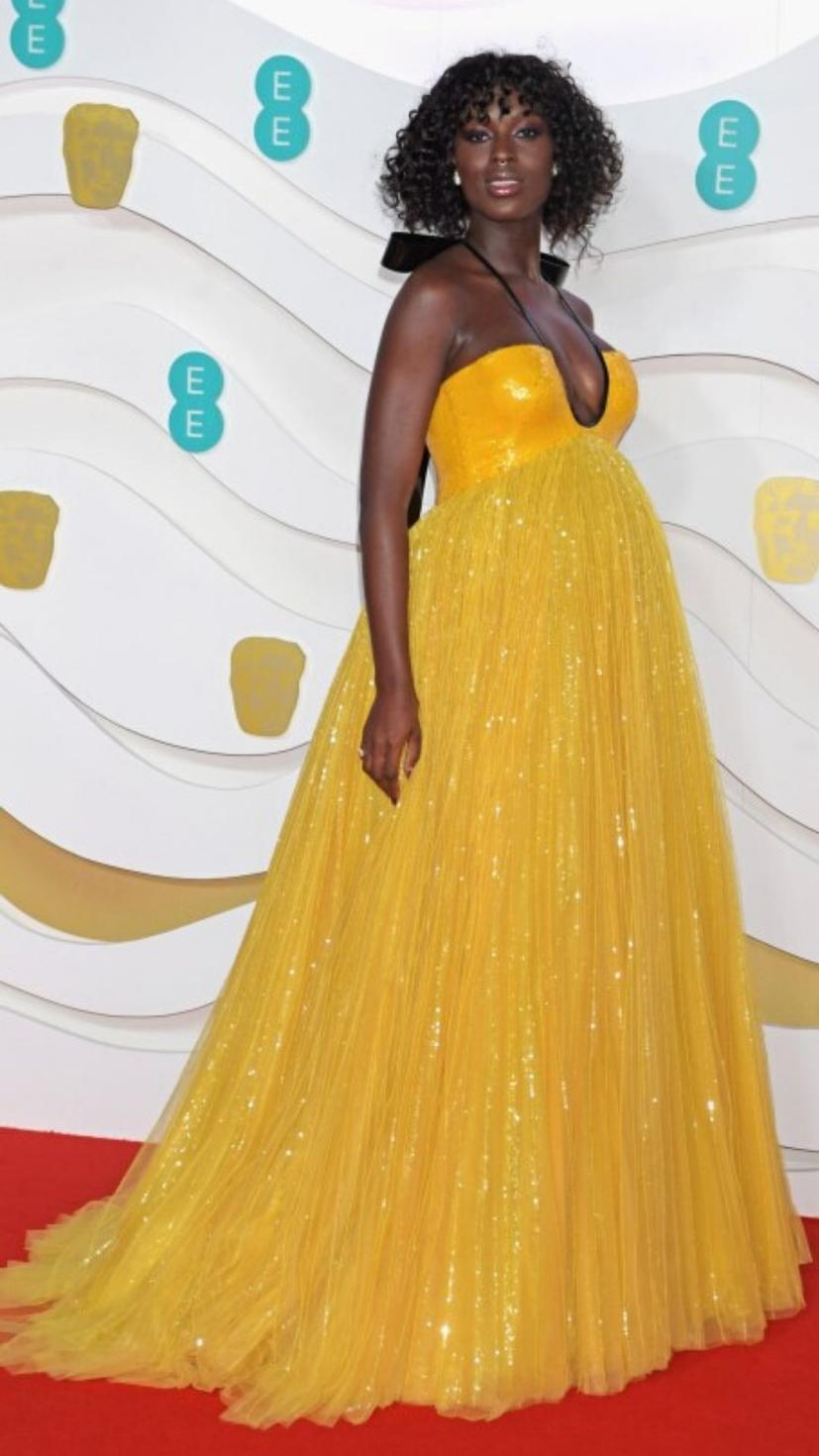 Jodie Turner wears a gown from Gucci and her jewellery from Tiffany & Co.