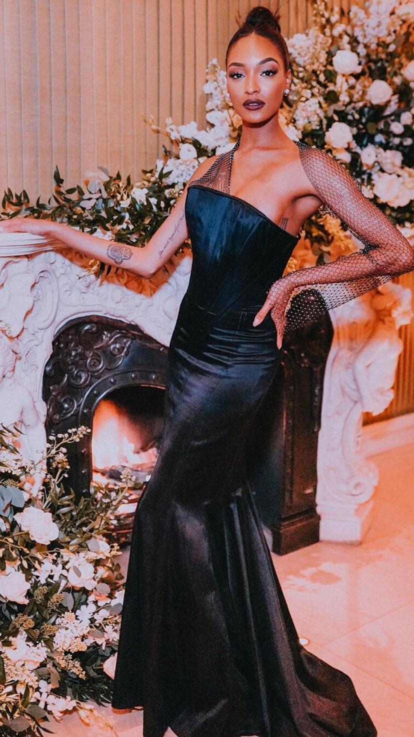 Jourdan Dunn wears a Jean Paul Gaultier Spring 1967 couture gown
