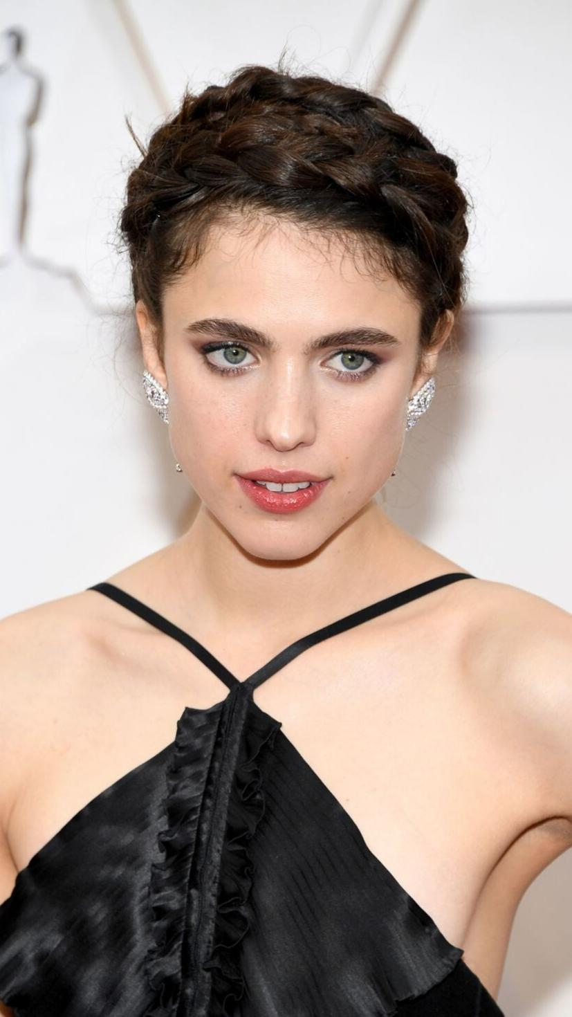 No one wears the natural look better than 'Once Upon a Time in Hollywood' star Margaret Qualley.  With a nearly no-makeup look and braided up-do, we can't get over how beautiful this look is!