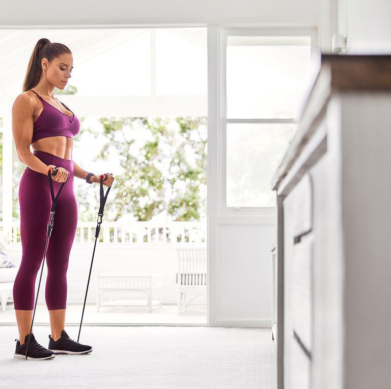 4 resistance band exercises that will work your entire bod in 15 minutes