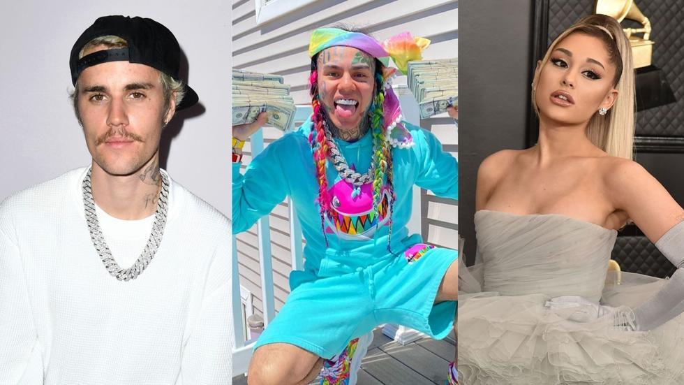 Um, Tekashi 6ix9ine, Ariana Grande and Justin Bieber are publicly feuding on the internet