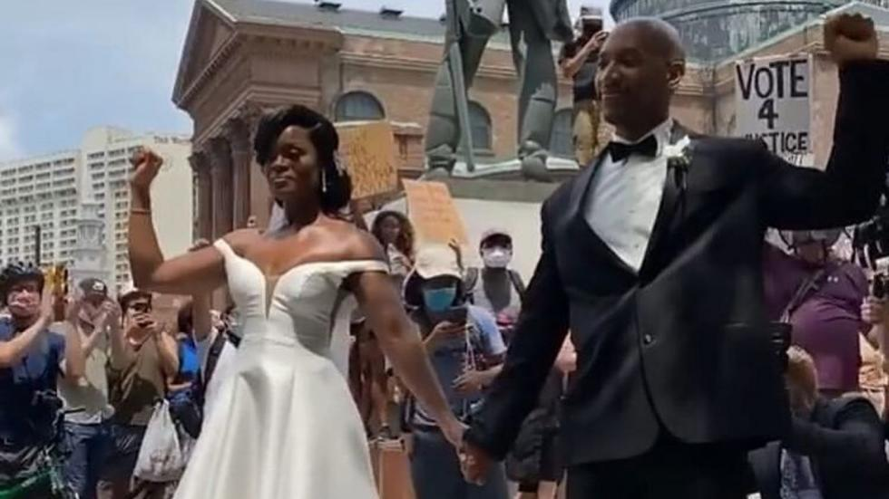 This couple turned their wedding day into a BLM protest