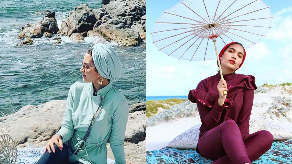 Modest swimwear, Modest fashion trends, SS20 modest swimwear, Summer 2020, Summer style, Fashion