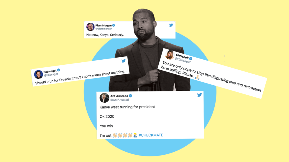 The best celebrity reactions to Kanye West's presidency announcement